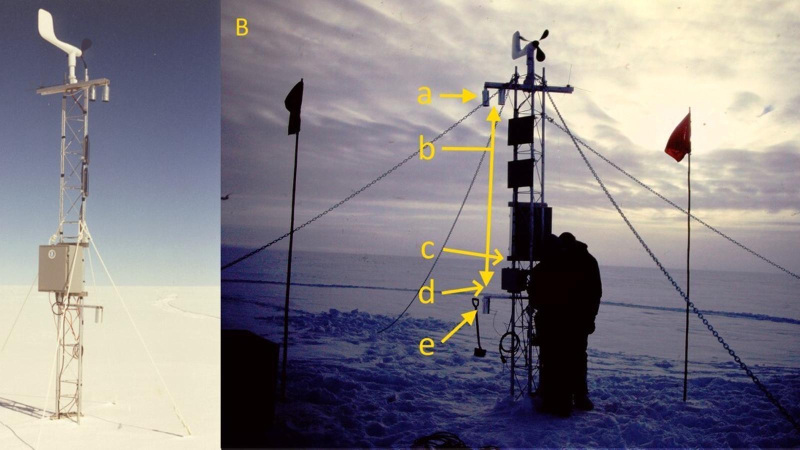 Estació meteorològica de Klinck, a Groenlàndia, el 1991