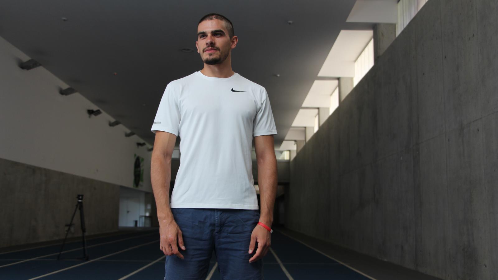 L'atleta espanyol Bruno Hortelano durant la seva visita al Centre de Tecnificació Esportiva d'Ordino. / ANA
