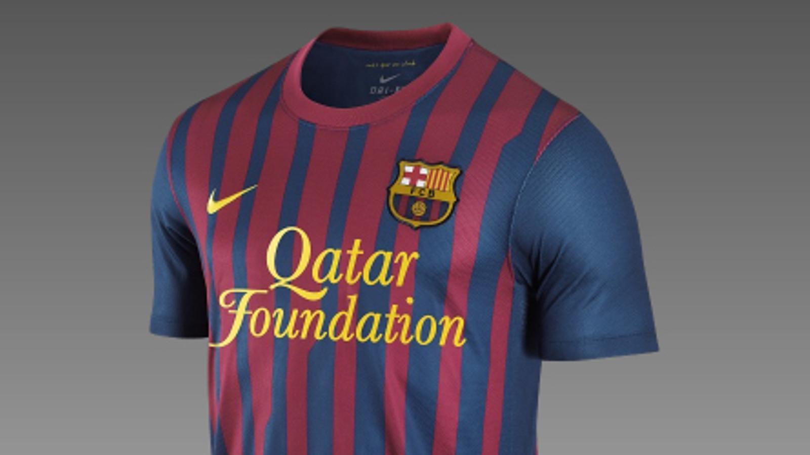 La samarreta del Barça per a la temporada 2011/2012.