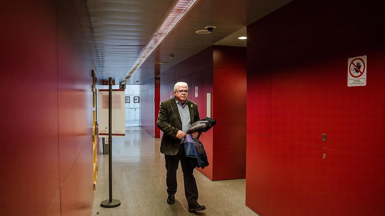 Agustí Alcoberro, que ha assumit les funcions de president des que Jordi Sànchez va ser empresonat a Soto del Real, a l'octubre, no podrà repetir el seu mandat.