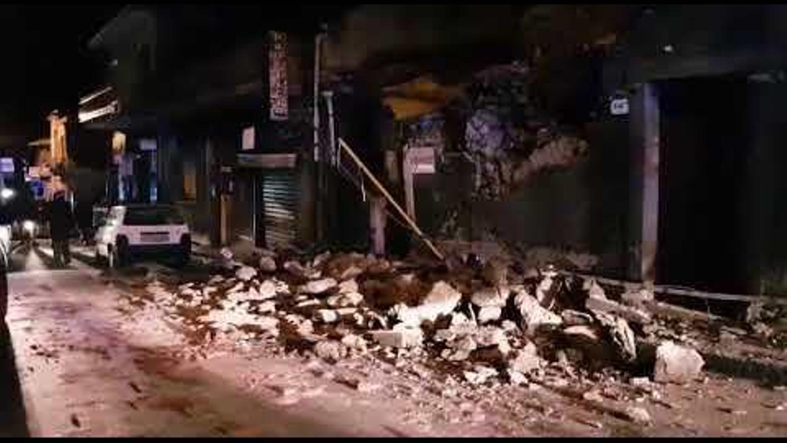Danys causats a Fleri pel terratrèmol que ha sacsejat Sicília