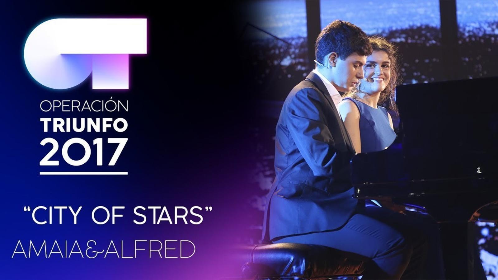 Interpretació d'Amaia i Alfred de la cançó 'City of stars'