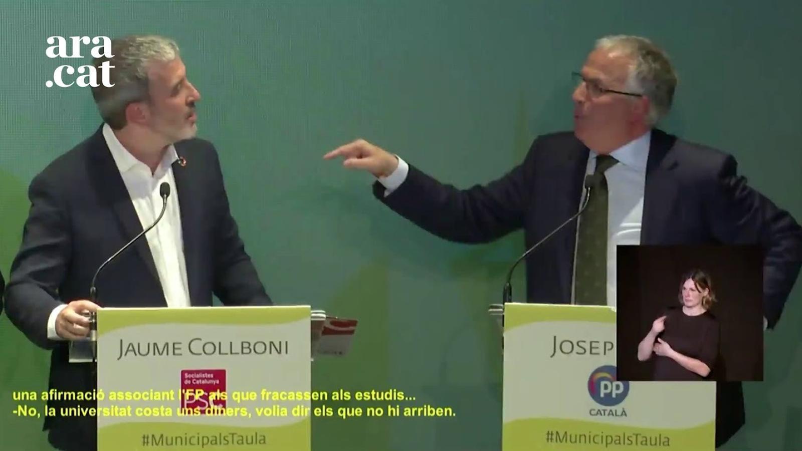 """Collboni a Bou: """"La seva visió de la FP és el que l'ha ensorrat en aquest país"""""""