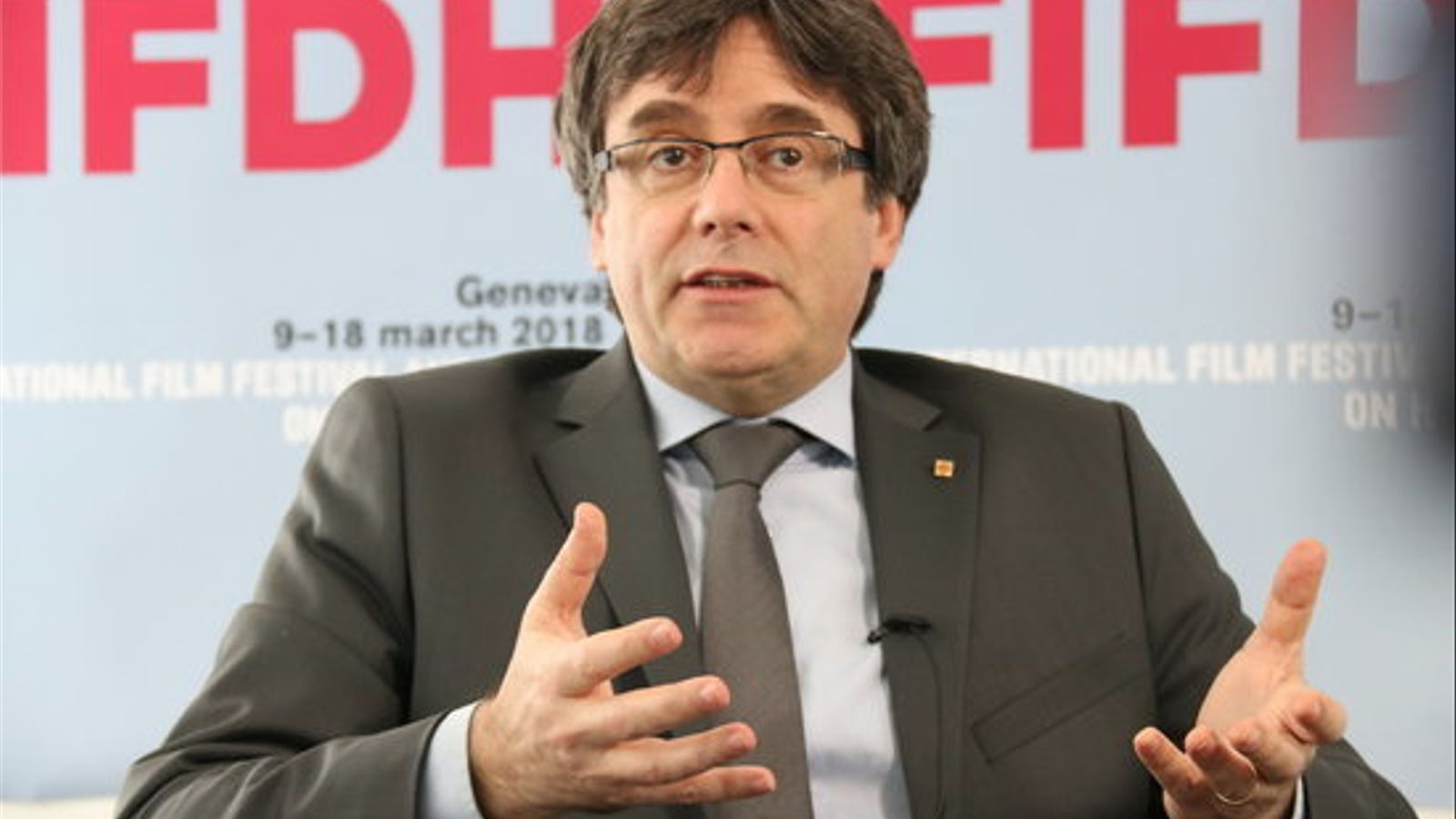 El president Carles Puigdemont a Ginebra