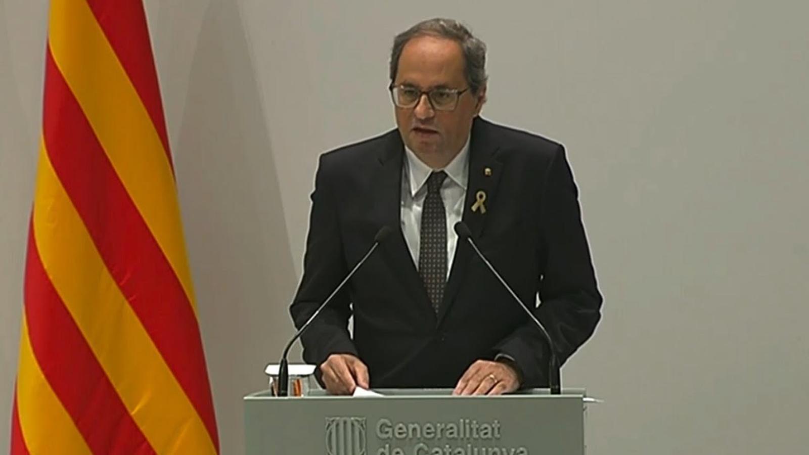 Declaració institucional Quim Torra, 20 de setembre del 2018