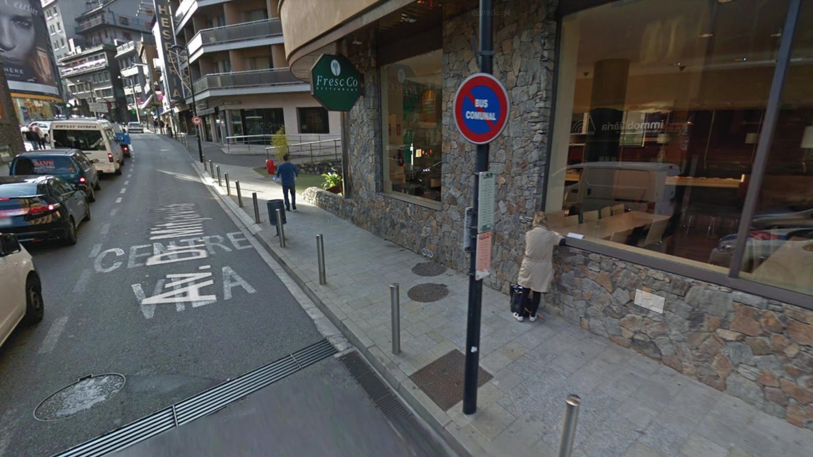 Ubicació de l'antiga parada de la Rotonda d'Andorra la Vella. / GOOGLE MAPS