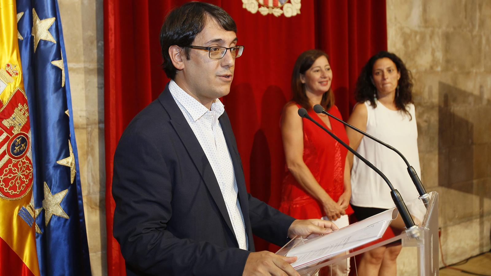 Negueruela, durant la roda de premsa d'aquest dilluns