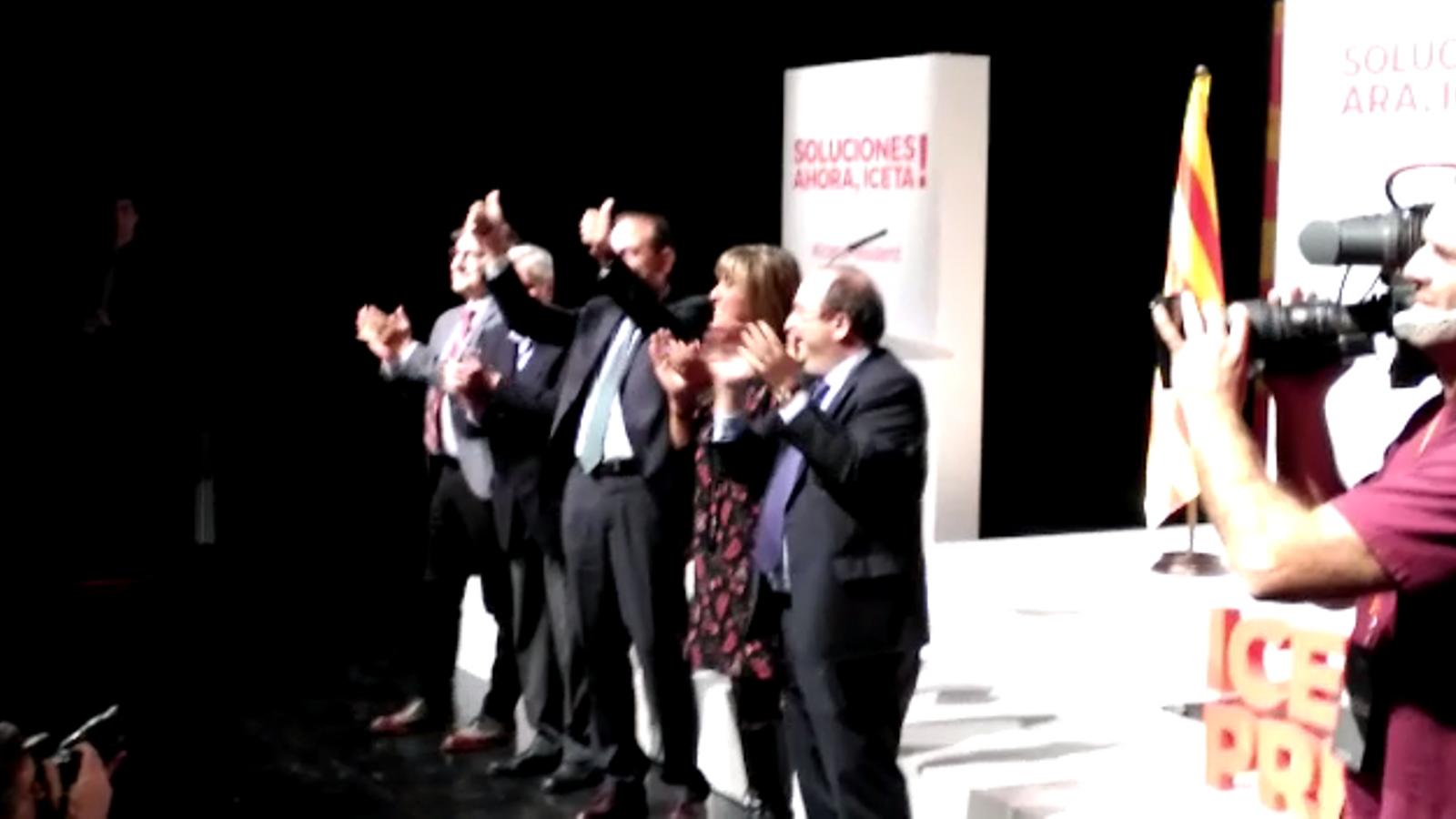 Arrenca l'acte d'inici de campanya del PSC al Teatre Joventut de l'Hospitalet