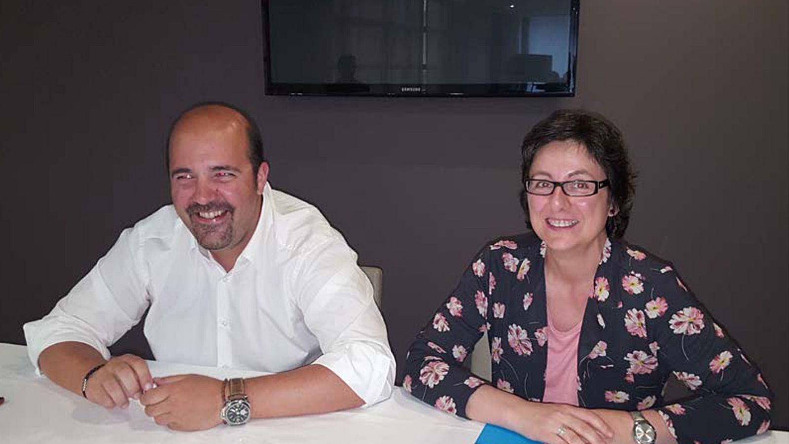El president del Bàsquet Club MoraBanc Andorra, Gorka Aixàs i la directora d'Unicef Andorra, Marta Alberch / UNICEF