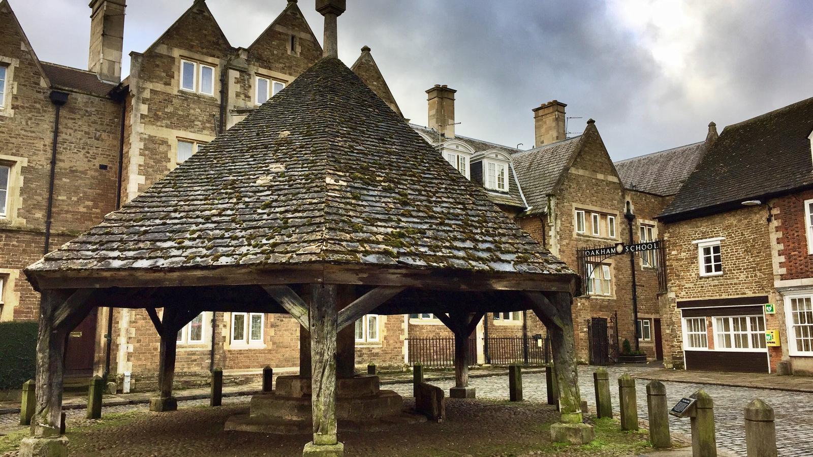 Centre històric d'Oakham, al comtat de Rutland, a Anglaterra