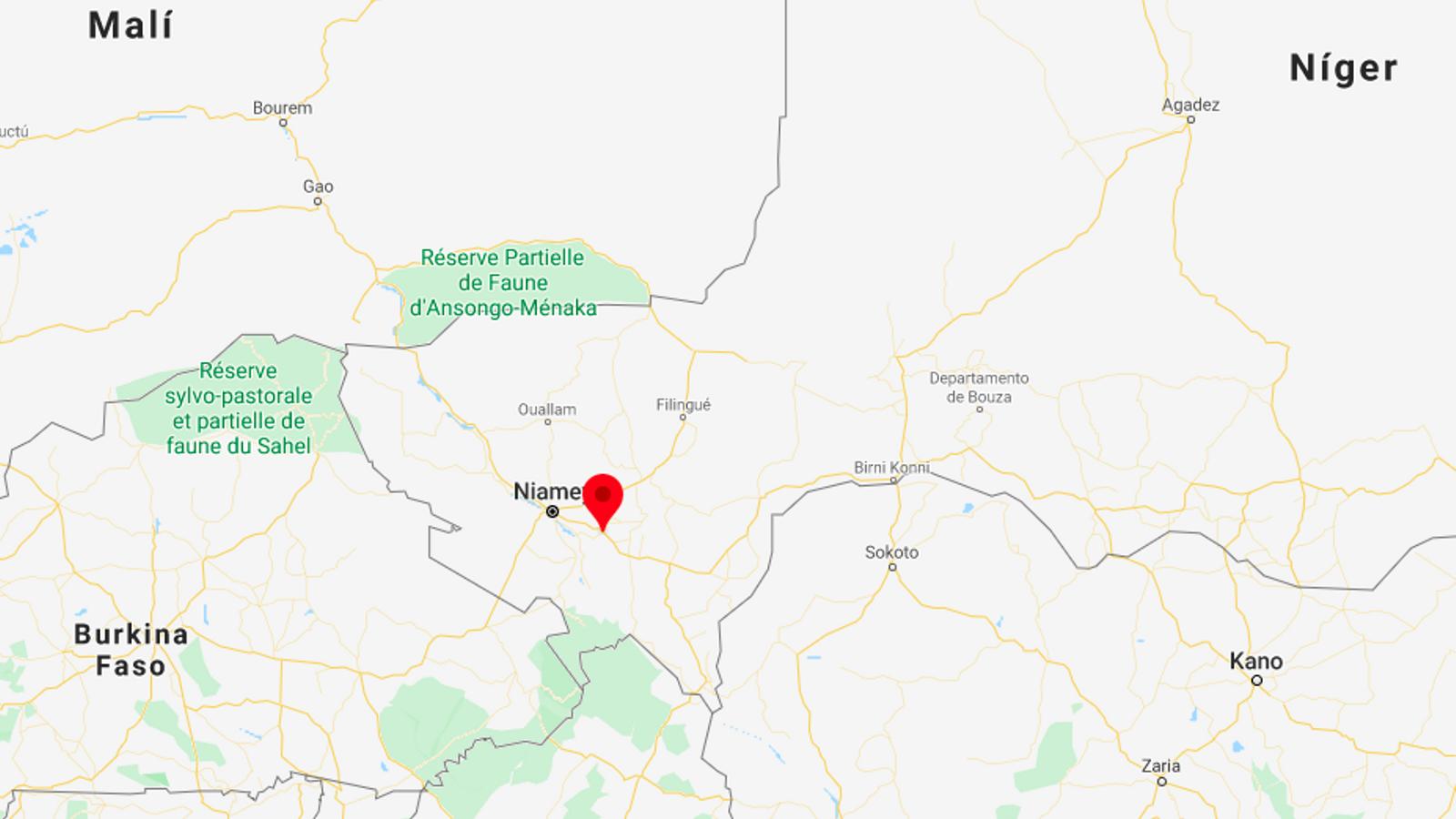 El punt assenyala Kouré, la zona on s'ha produït l'atac