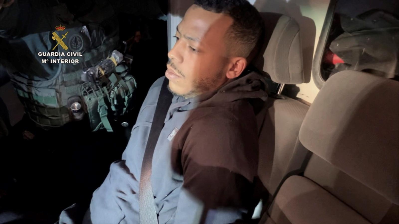 L'agressor després de ser detingut per les forces de seguretat