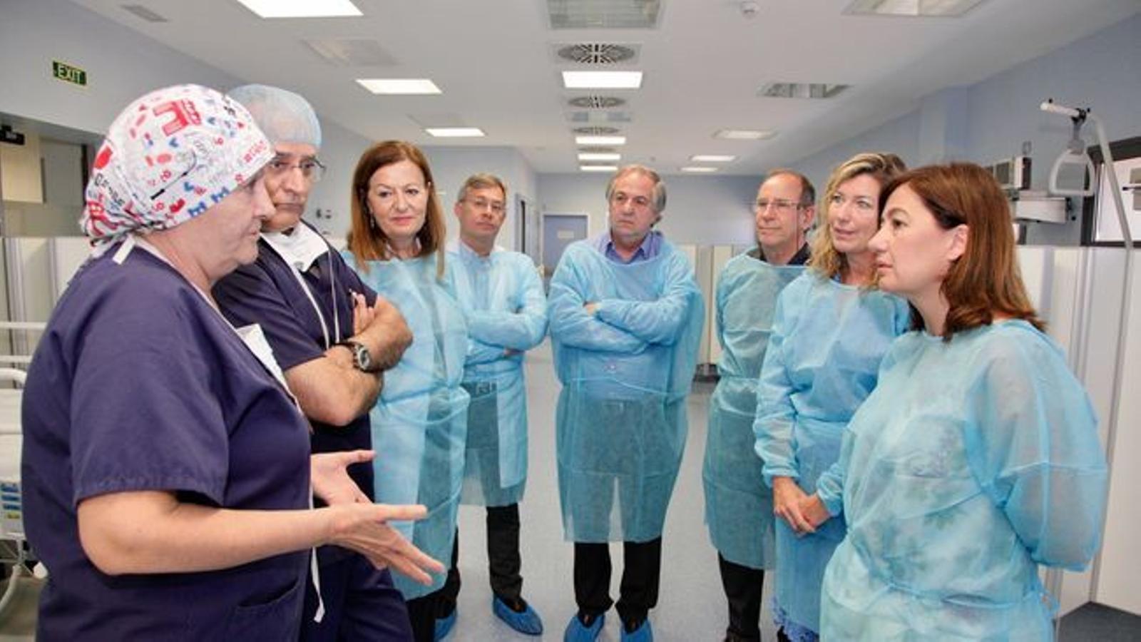 Patricia Gómez conegué els detalls del futur hospital a la seva visita amb la presidenta del Govern al centre el maig passat.