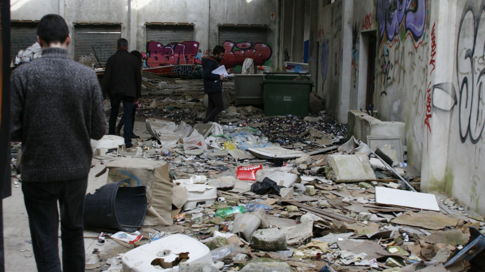 Imatge d'una de les sales interiors del Sindicat.