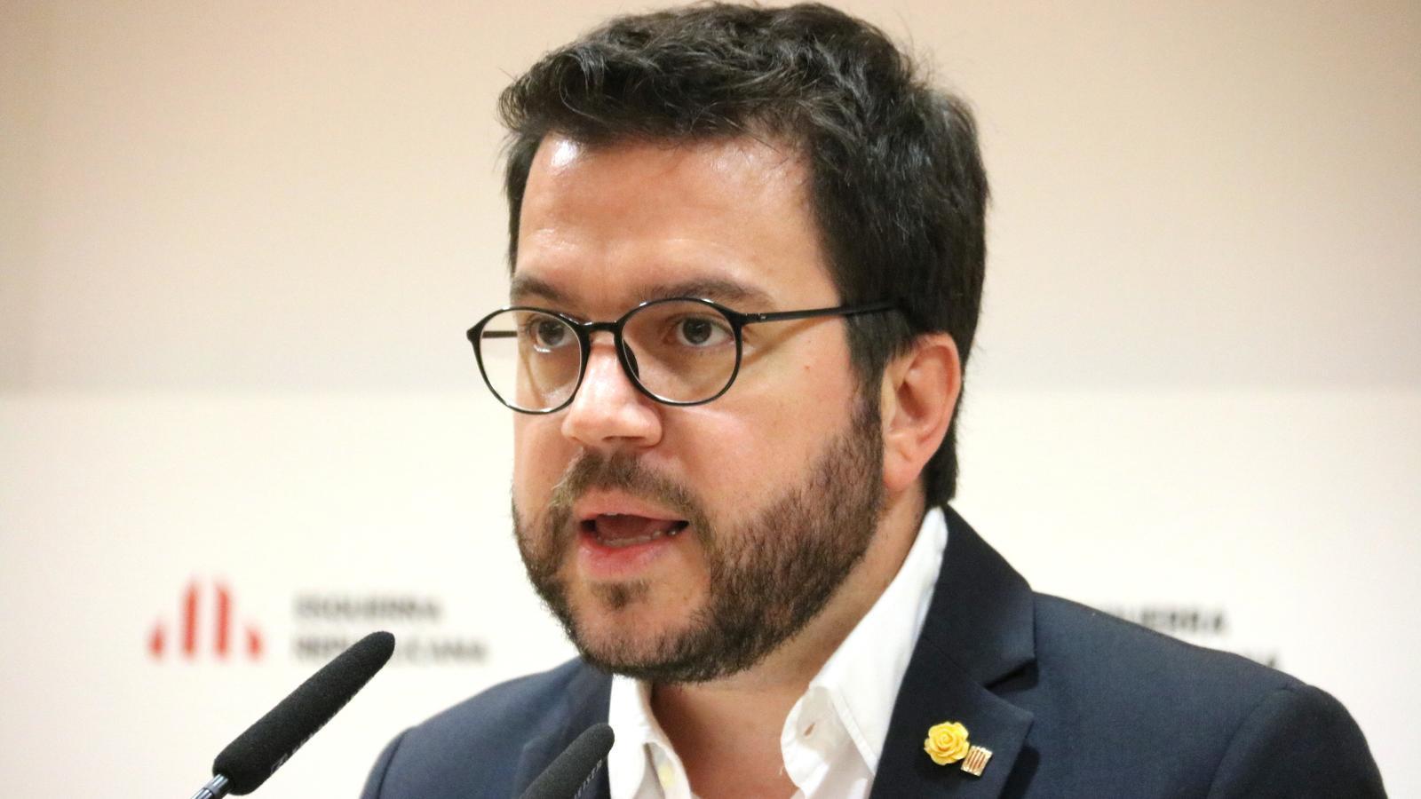 """Aragonès deixa clar que la monarquia no té """"camí ni lloc en una societat madura"""""""
