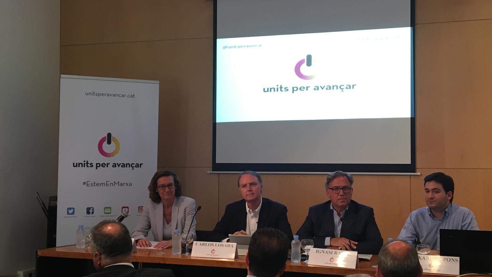 """Units per Avançar es presenta com a partit catalanista que vol implicar-se """"desacomplexadament"""" a la política espanyola"""