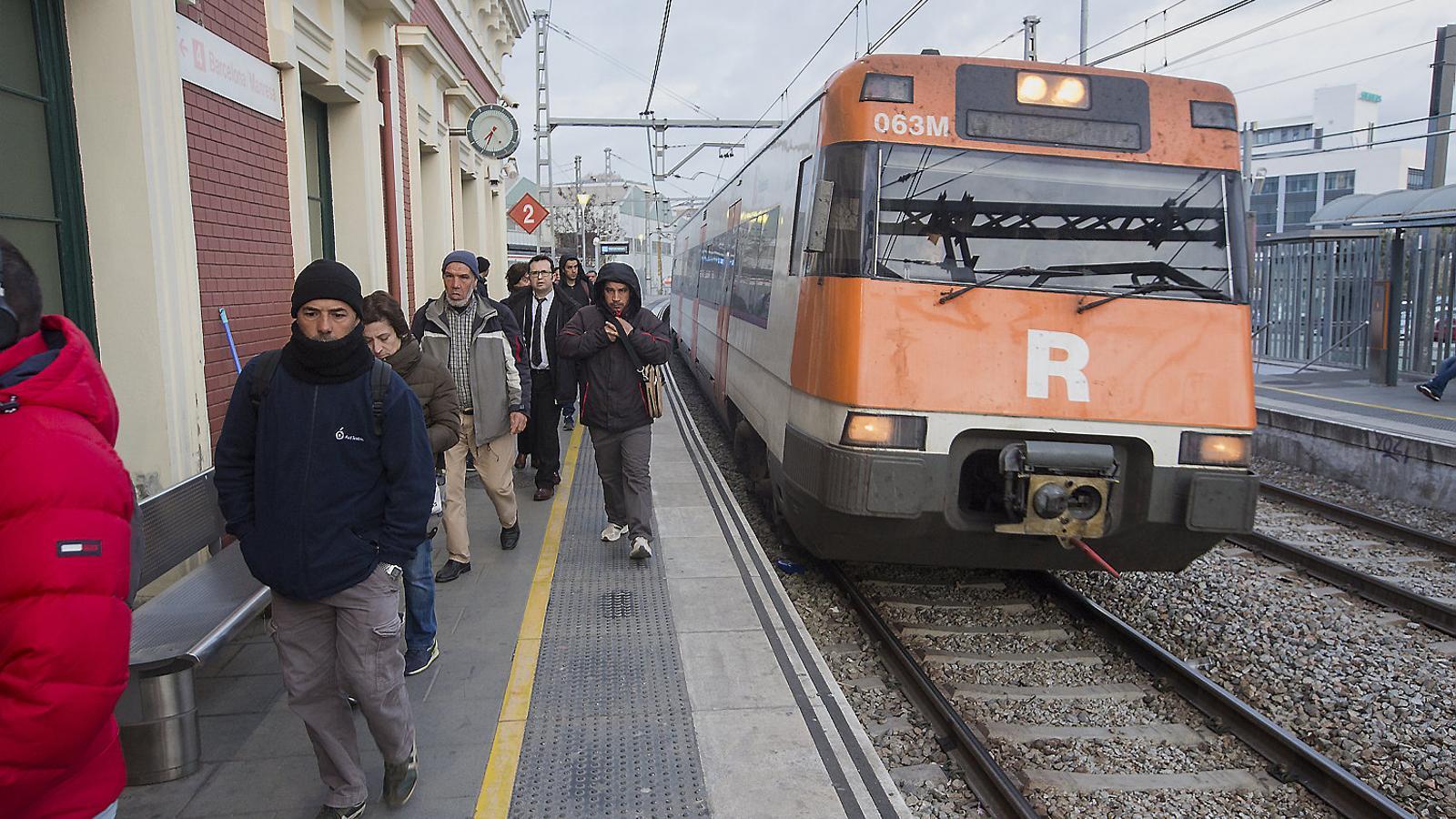 A Renfe es van complir els serveis mínims, però es van produir alguns retards en la circulació.