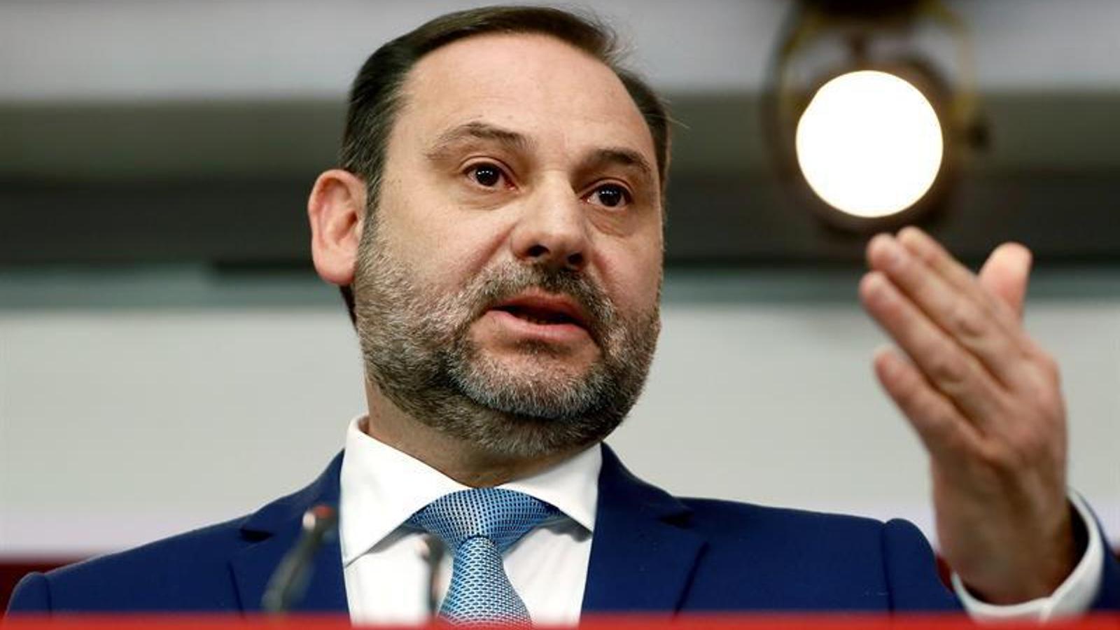 """Ábalos deixa clar que """"no té cap sentit"""" que Sánchez se sotmeti a una qüestió de confiança"""