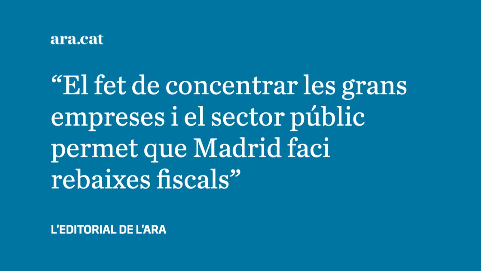 Els privilegis que permeten a Madrid abaixar impostos