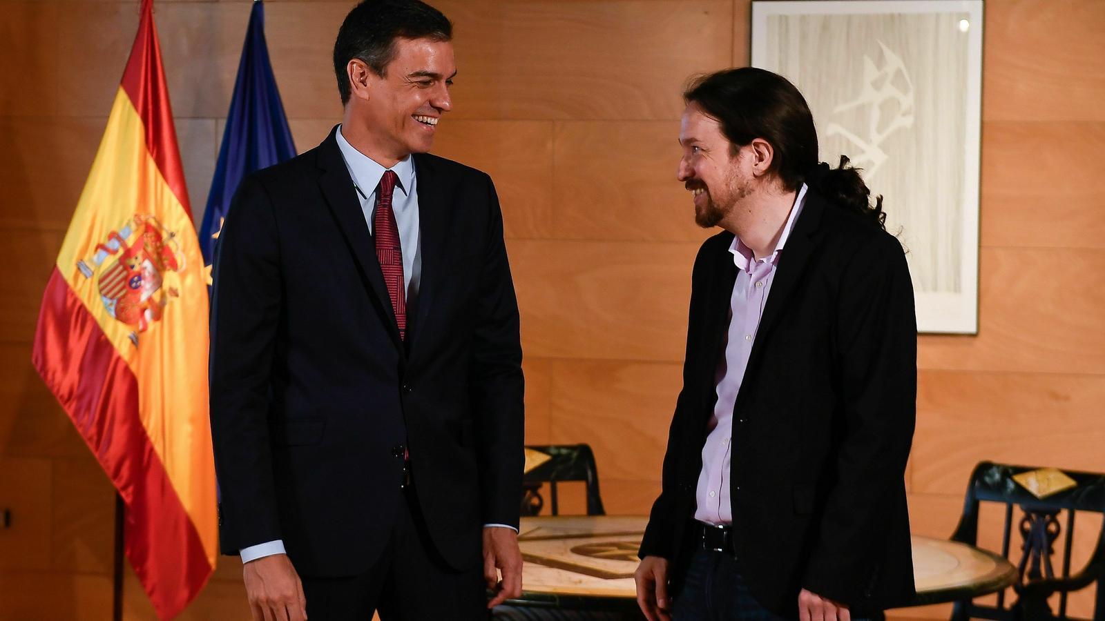 Sánchez i Iglesias compareixeran al Congrés per fer un anunci sobre les negociacions per formar govern