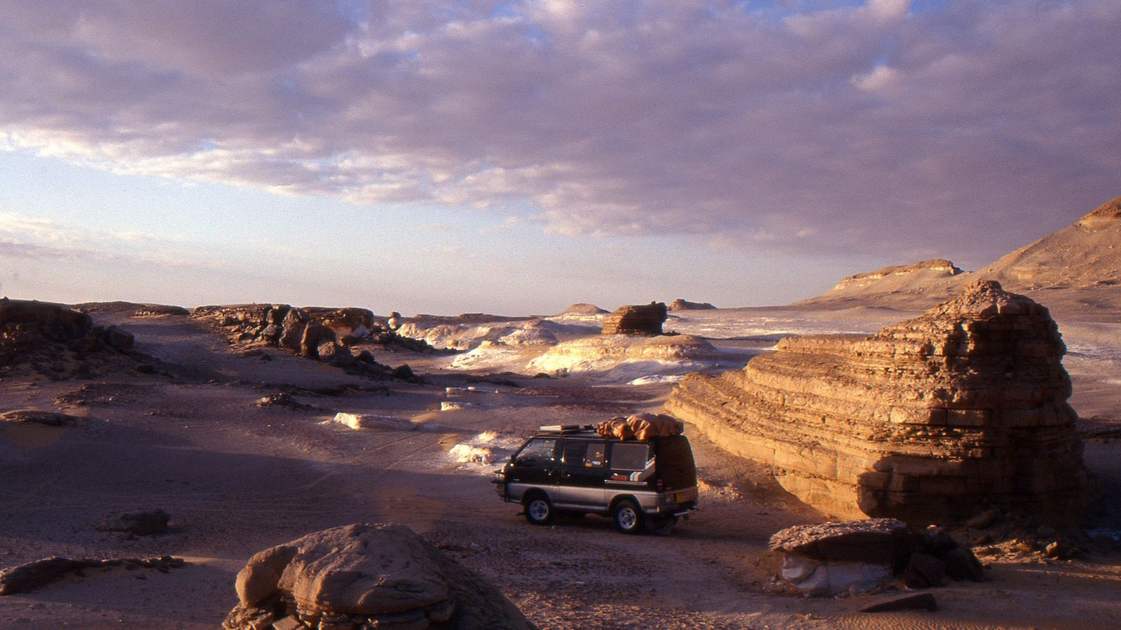 La furgoneta de l'Anna i el Pablo a Egipte