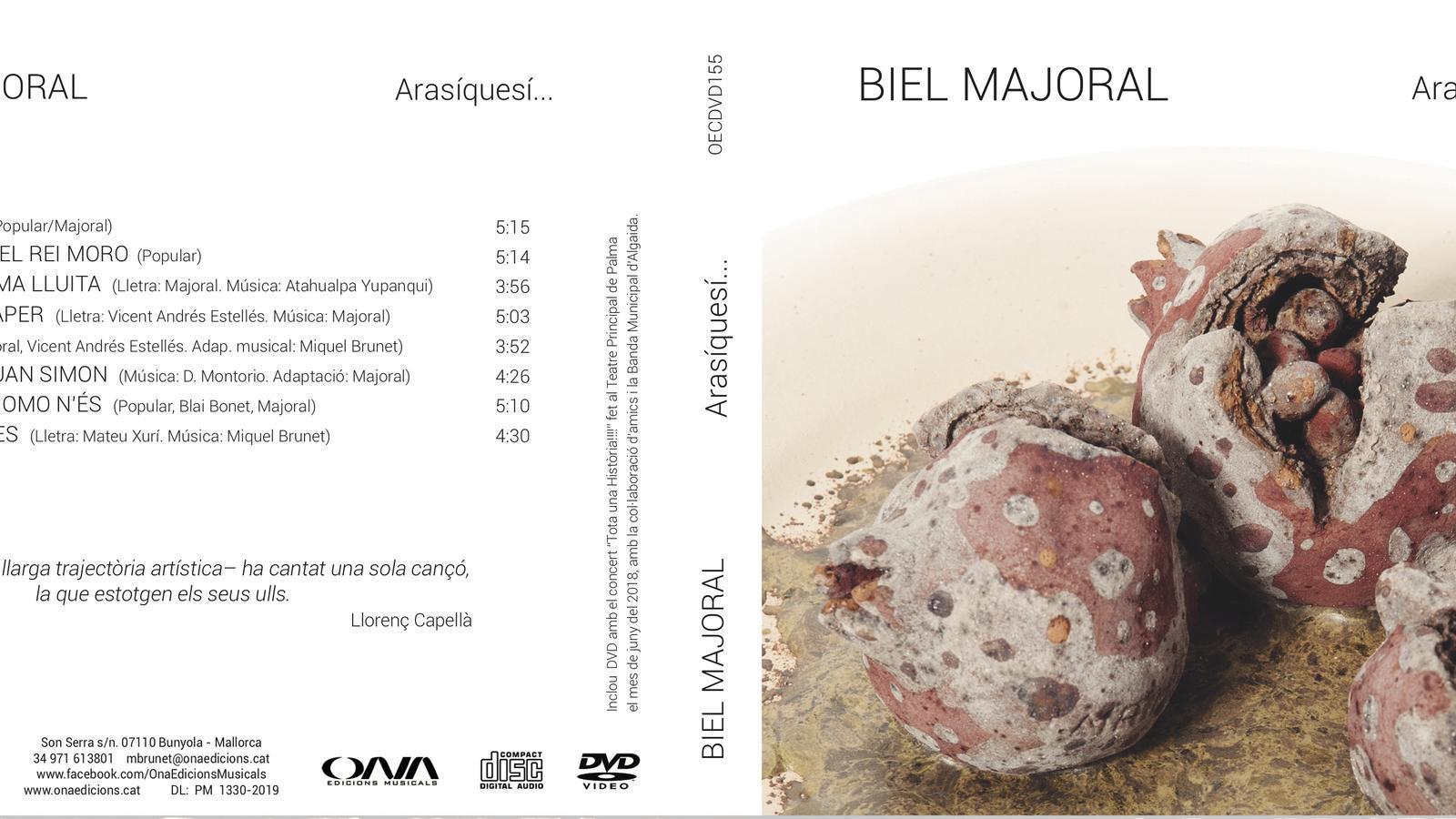 Portada del disc 'Arasíquesí...' de Biel Majoral