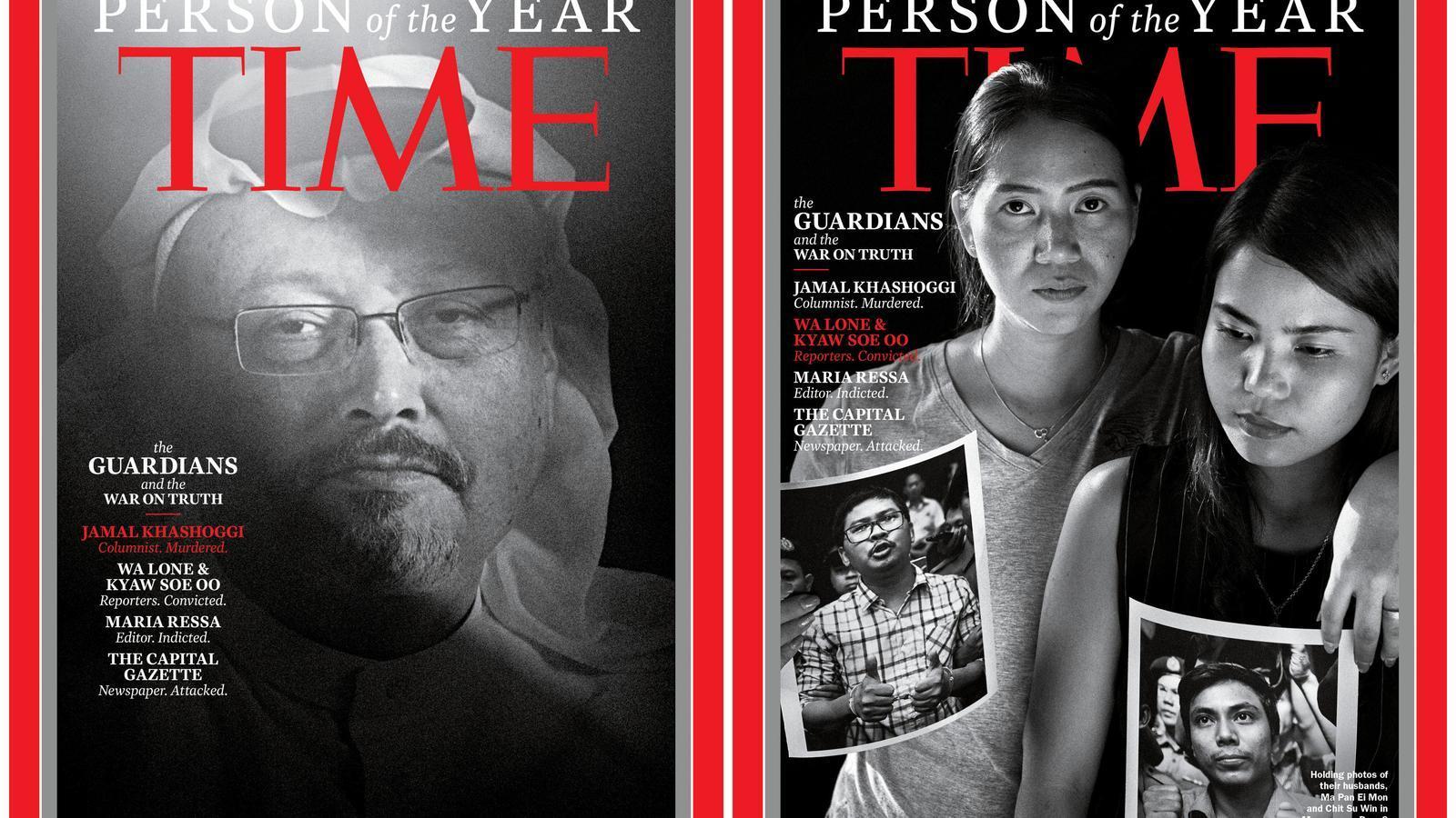 Jamal Khashoggi i tres periodistes més, nomenats persones de l'any per la revista 'Time'