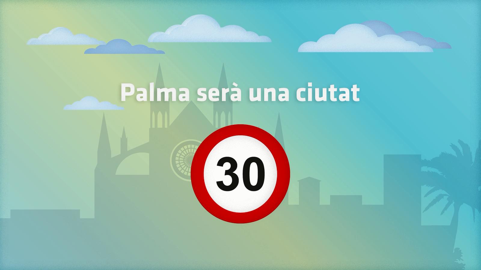 Vídeo explicatiu de l'Ajuntament de Palma sobre la nova limitació de velocitat.