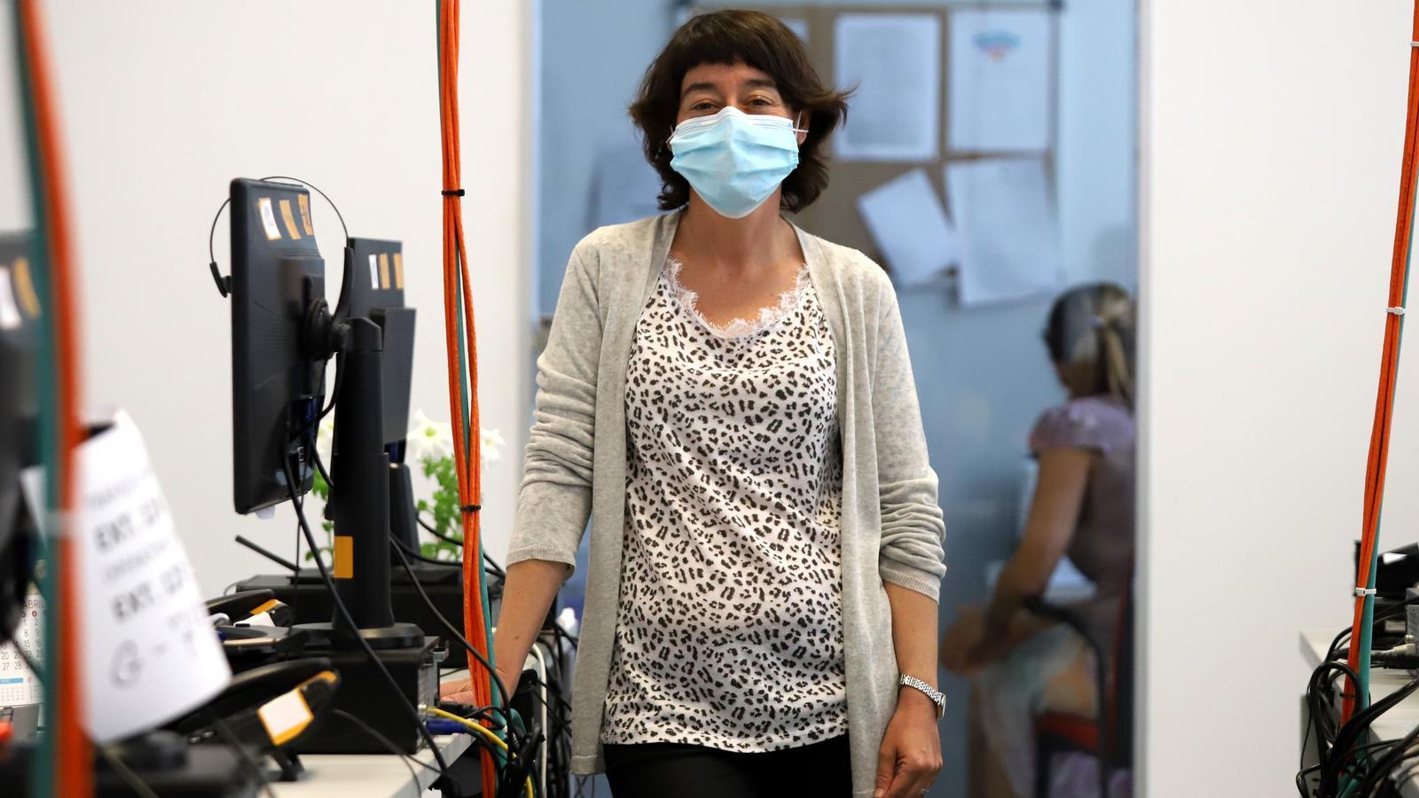 Llúcia Moreno, infermera encarregada de fer el seguiment i l'estudi de contacte de positius de coronavirus