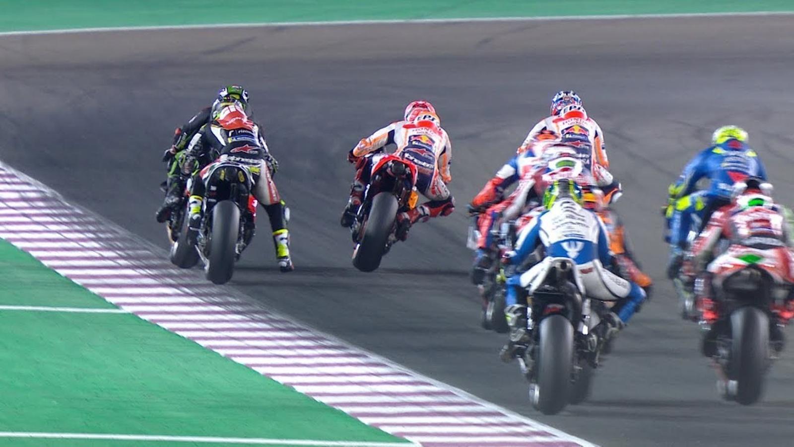 El GP de Qatar de MotoGP, en minut i mig