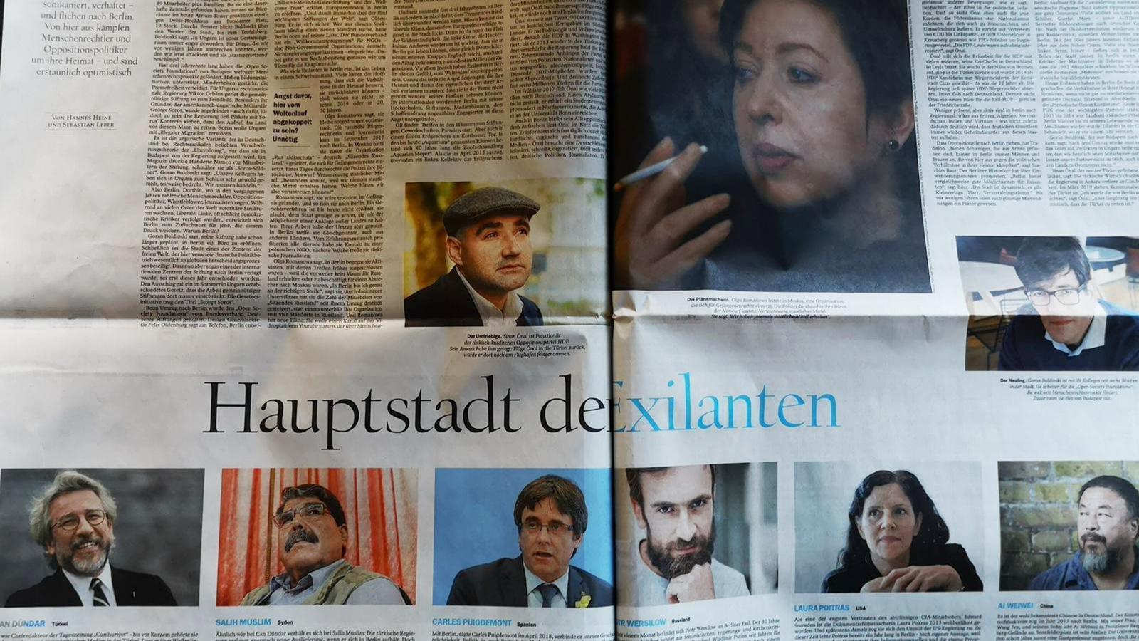 Reportatge sobre els exiliats a Berlín al diari 'Der Tagesspiegel'