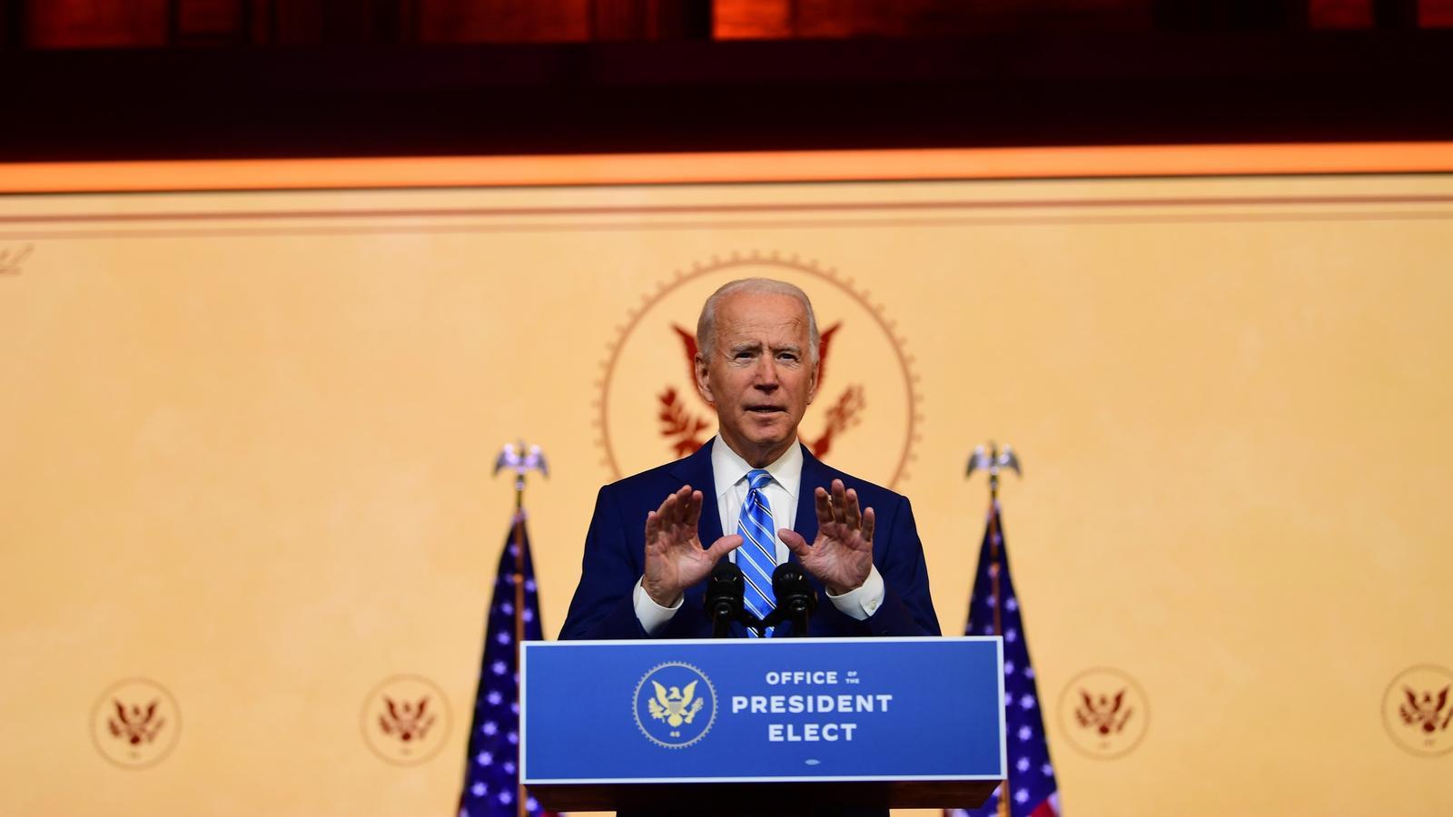 """Biden: """"Estem en guerra amb el virus i no entre nosaltres"""""""