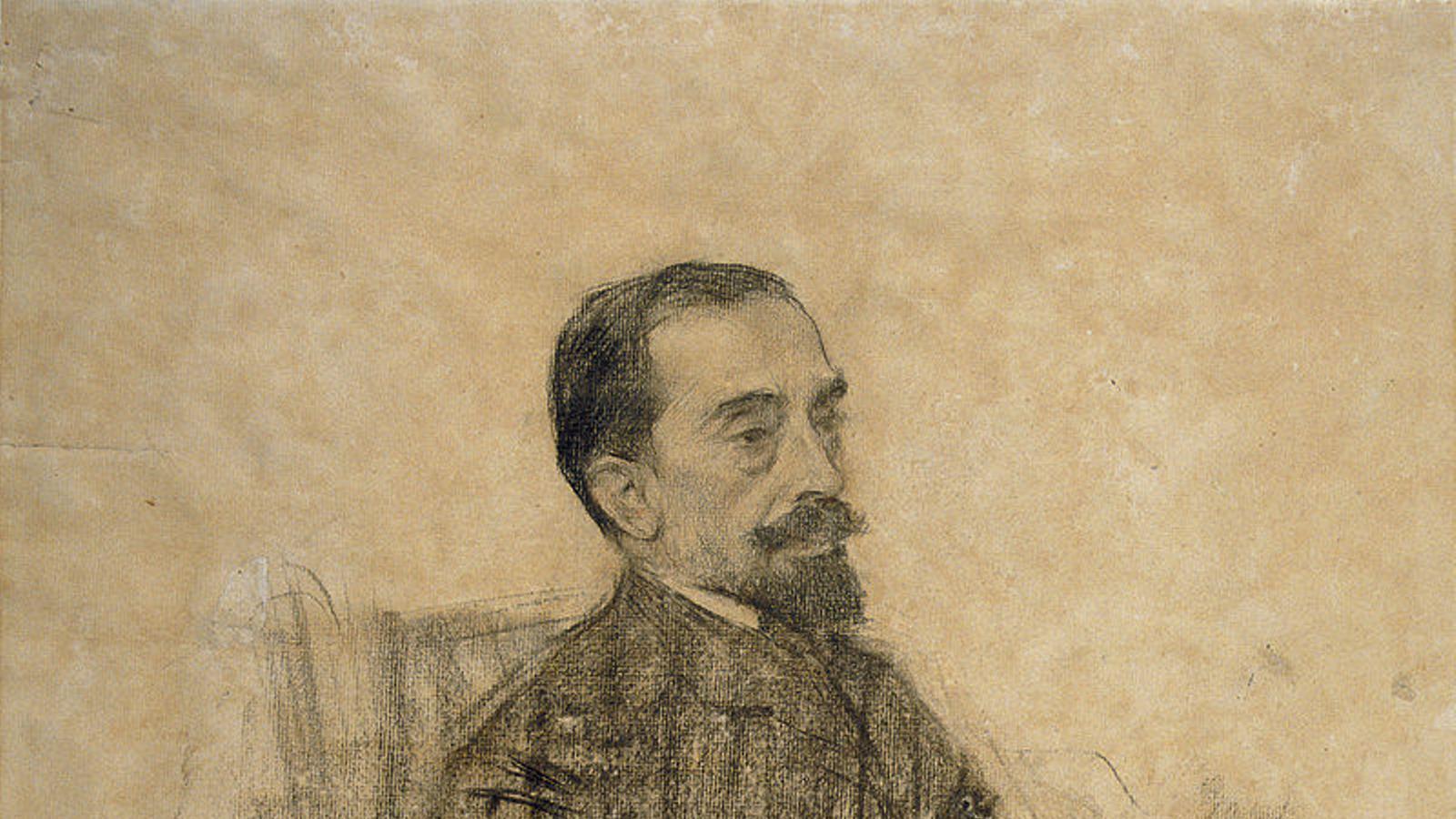 Esbós de Ramon Casas del poeta Joan Maragall