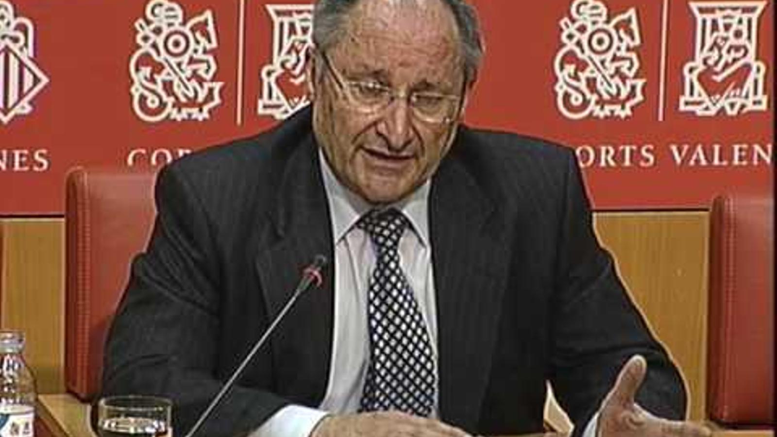 Compareixença de Joan Llinares, director de l'Agència Antifrau del País Valencià.