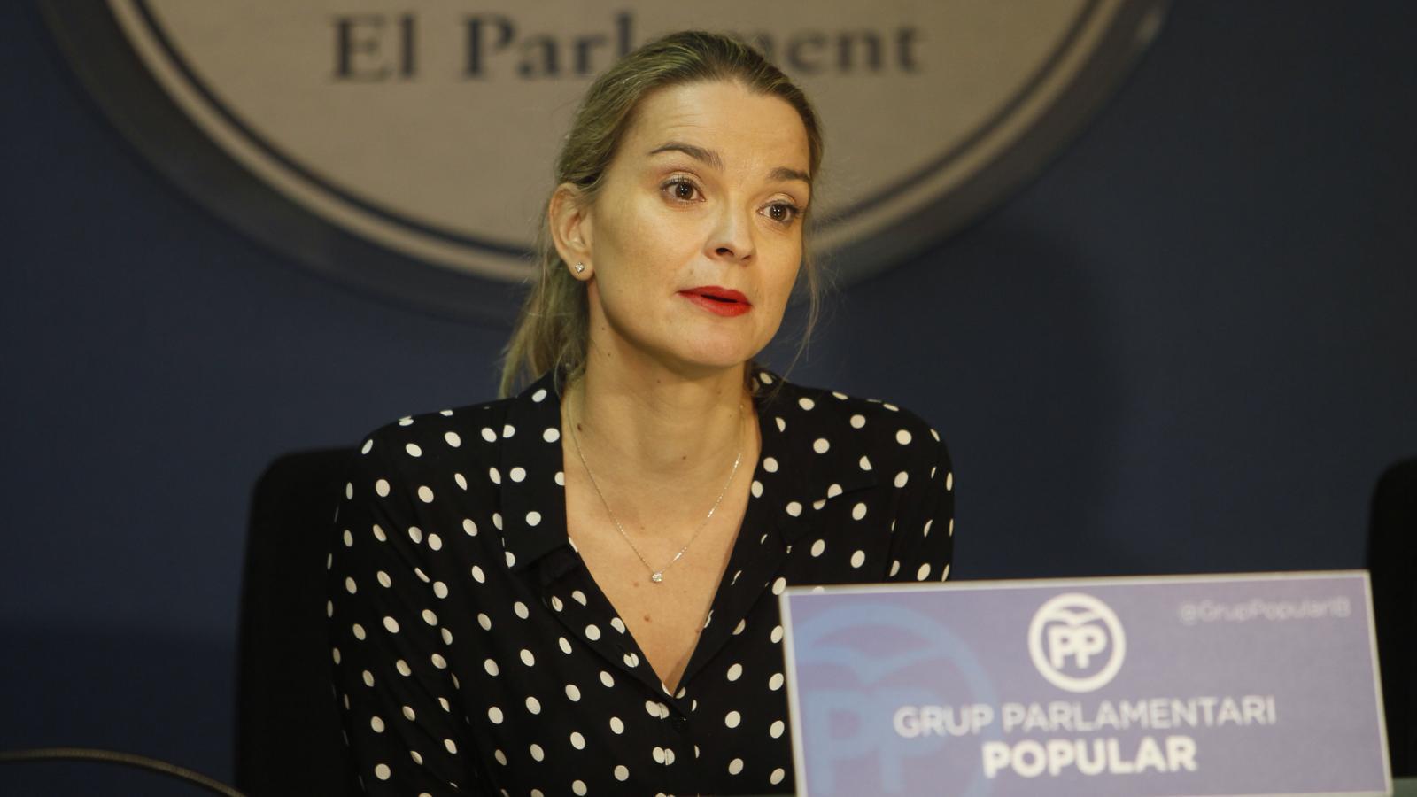 """La portaveu del PP, Margalida Prohens, qualifica Armengol de """"perdedora"""" i lamenta que """"no digui que volia unes terceres eleccions"""". ISAAC BUJ"""