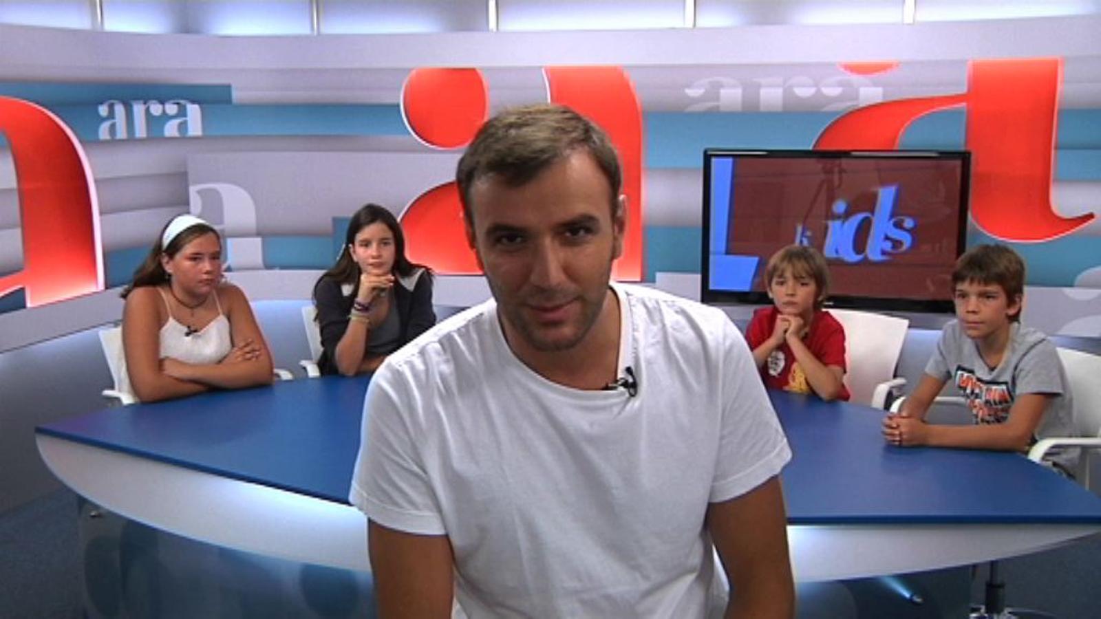 Ara Kids: Els nens periodistes entrevisten en Sergi de 'La Riera'