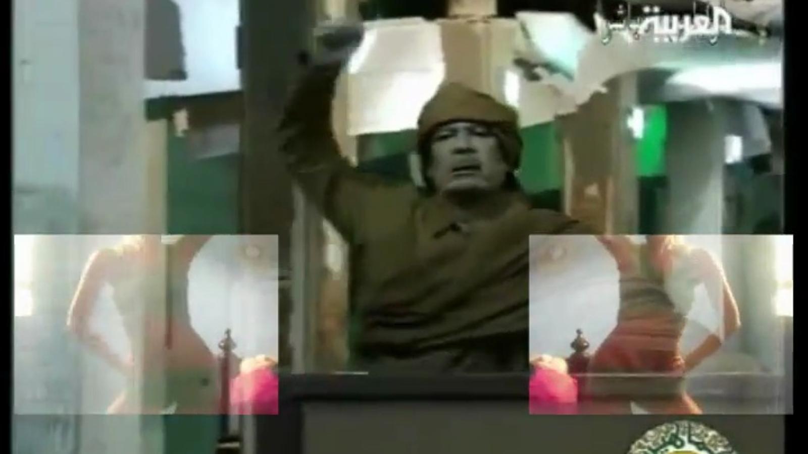 El discurs 'dance' de Gaddafi