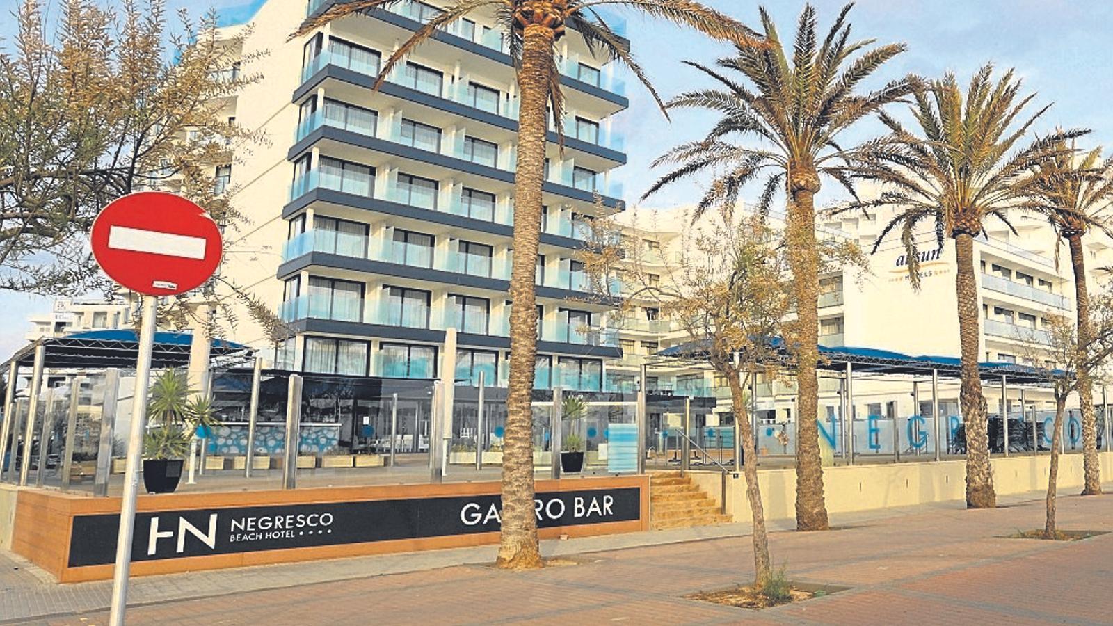 Un hotel de la Platja de Palma tancat durant l'estat d'alarma.