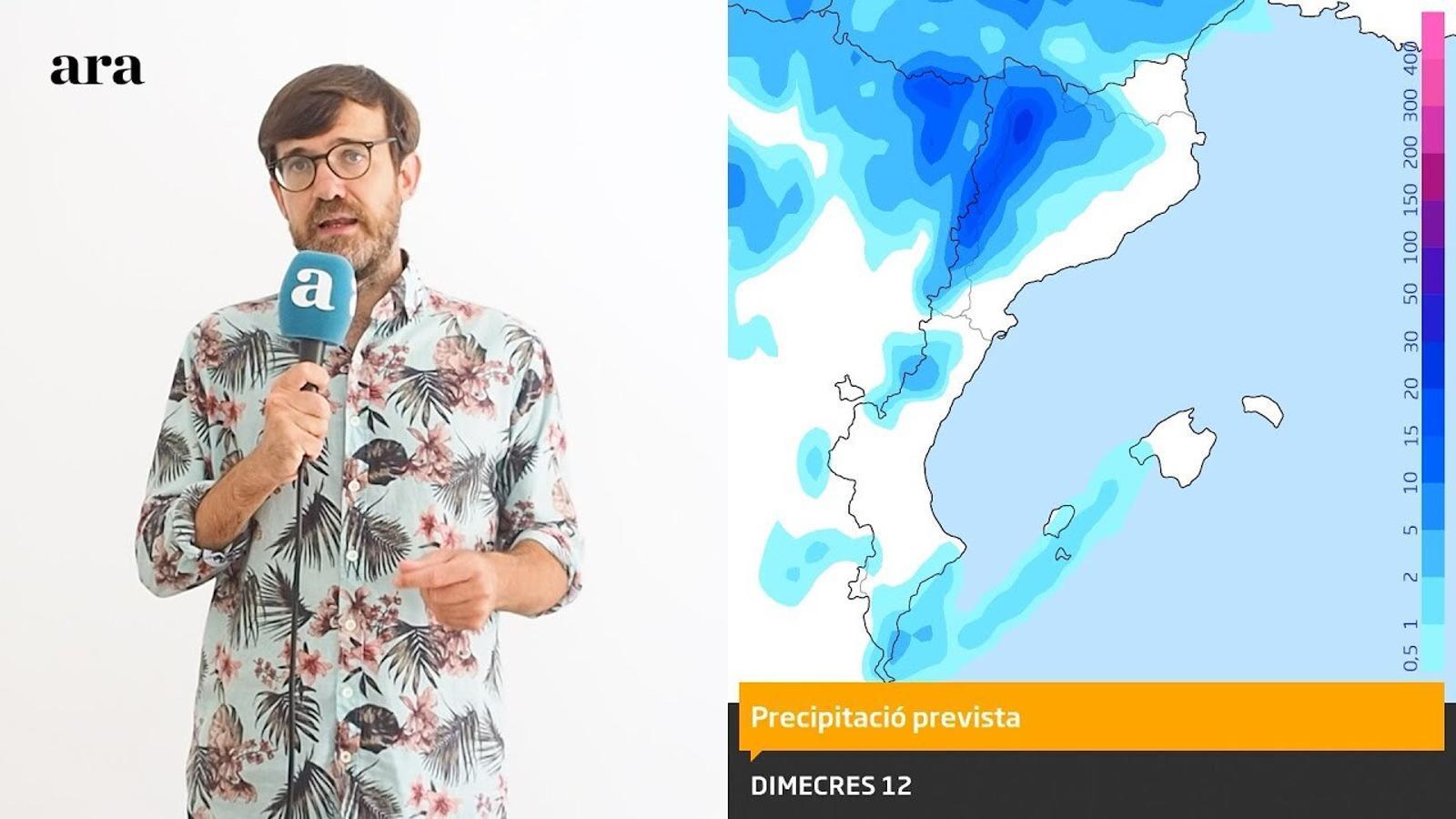 La méteo: tempestes a l'oest i calor més moderada