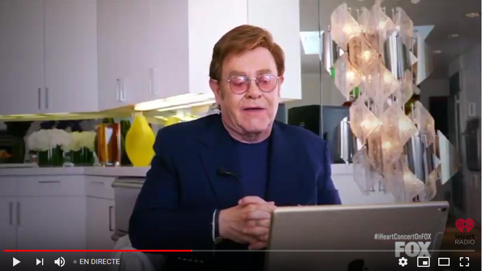 Elton John en el concert solidari de diumenge