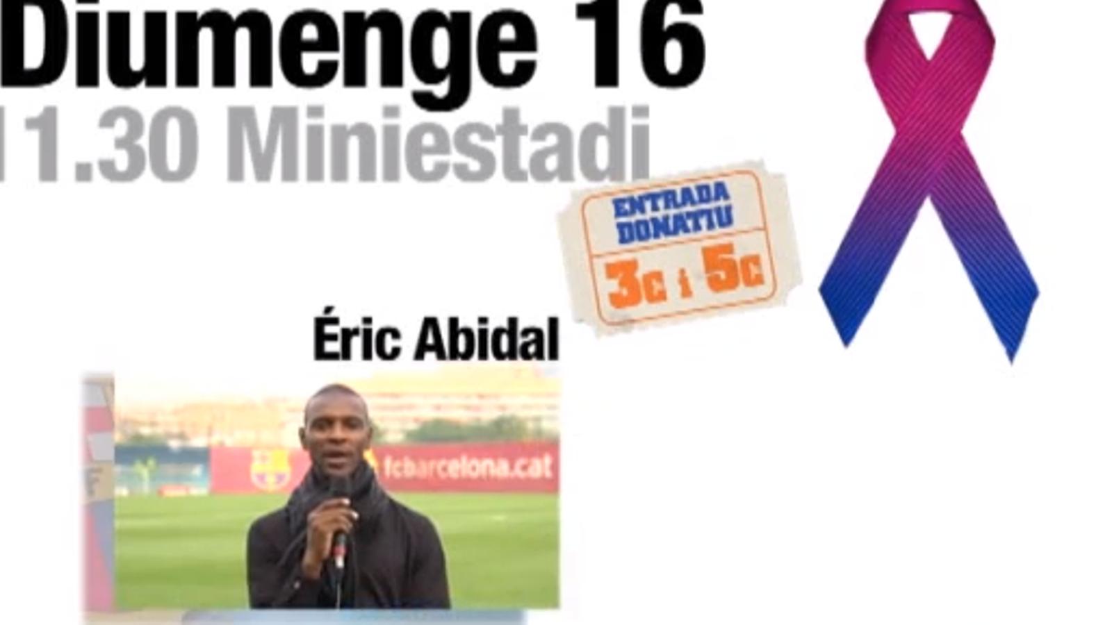 Abidal participa en l'espot del partit per a La Marató de TV3 que es disputarà el 16 de desembre al Miniestadi