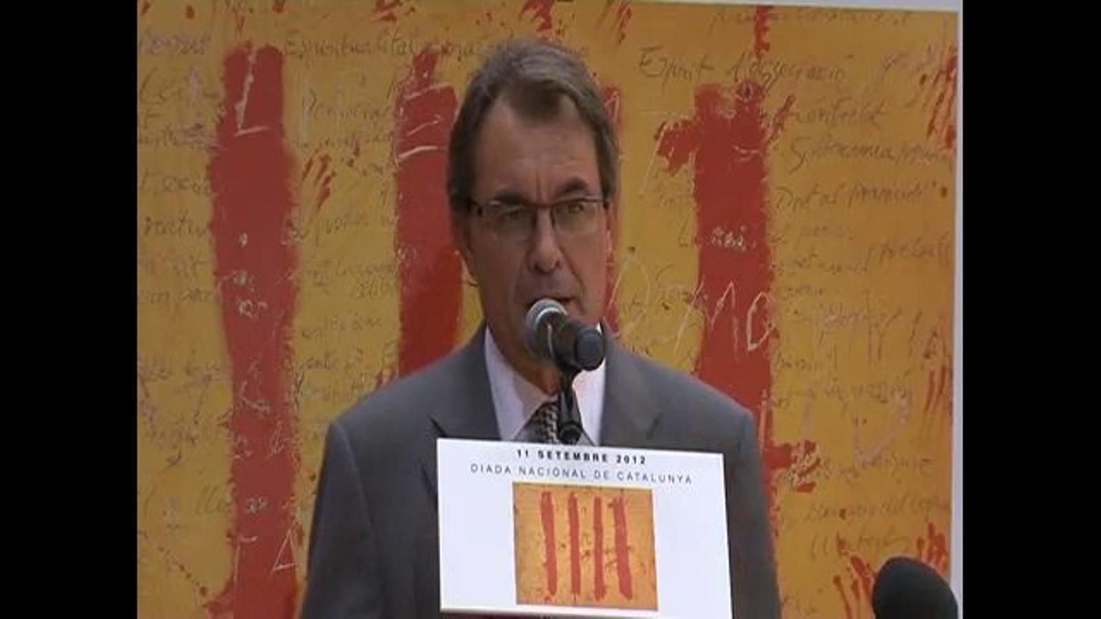 Mas, en anglès: Si no hi ha acord amb Madrid pel pacte fiscal, el camí de la llibertat de Catalunya està obert