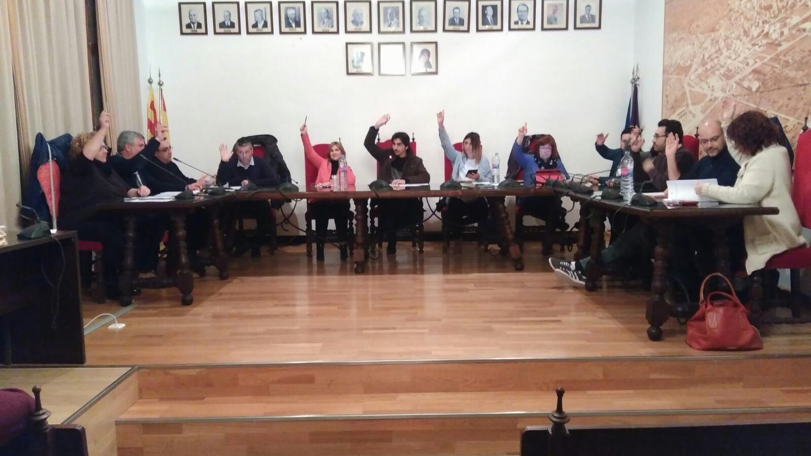 Imatge del ple a l'Ajuntament de Ses Salines