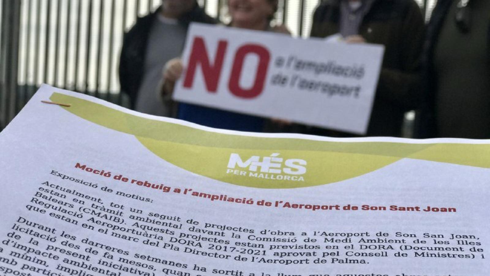 MÉS presentarà mocions a tots els ajuntaments per demostrar que el rebuig a l'ampliació de l'aeroport és un clam generalitzat