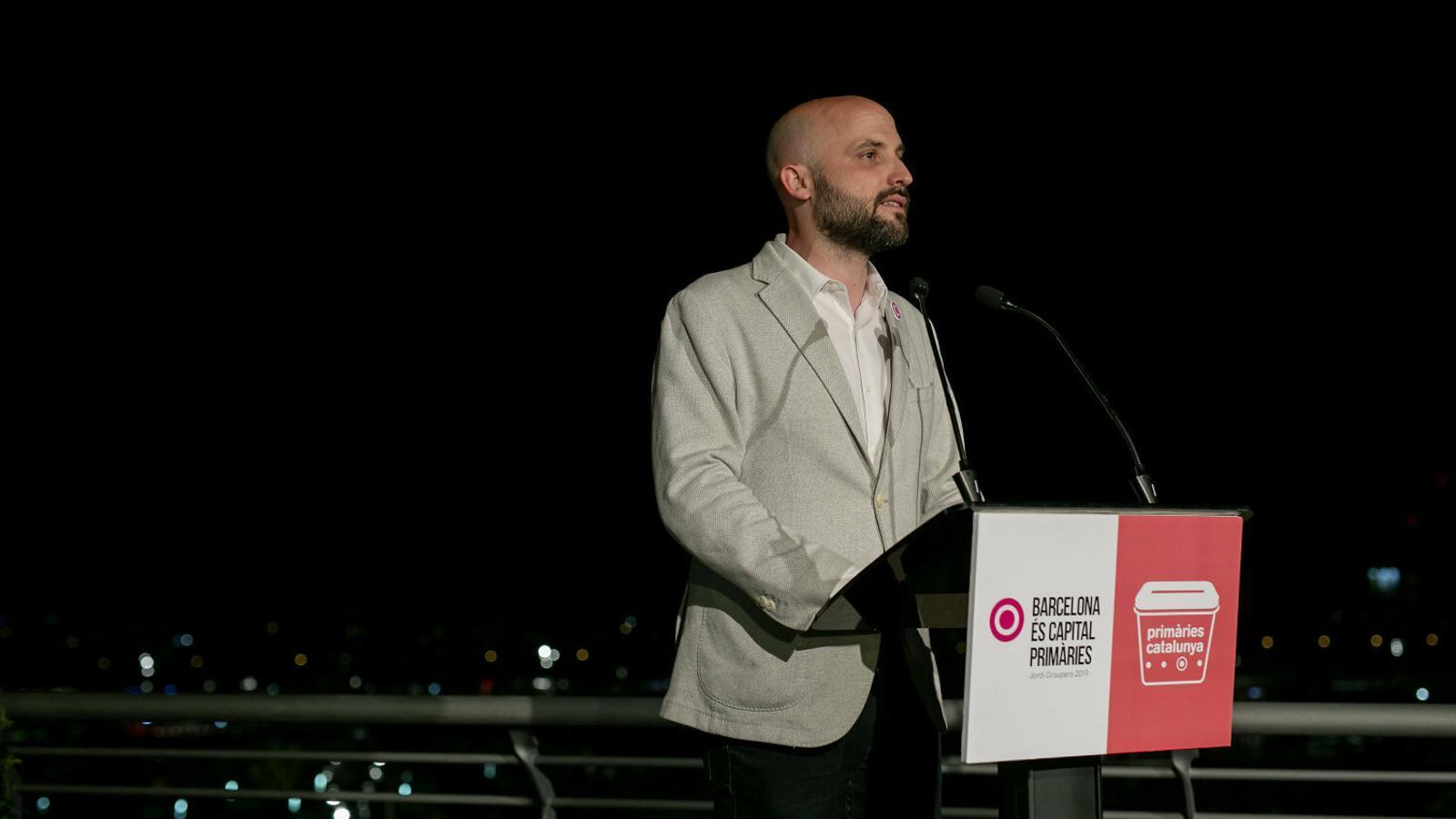 Jordi Graupera, l'impulsor de Barcelona és Capital, la candidatura independen-tista sorgida de Primàries que va quedar fora de l'Ajuntament de Barcelona el 26 de maig.