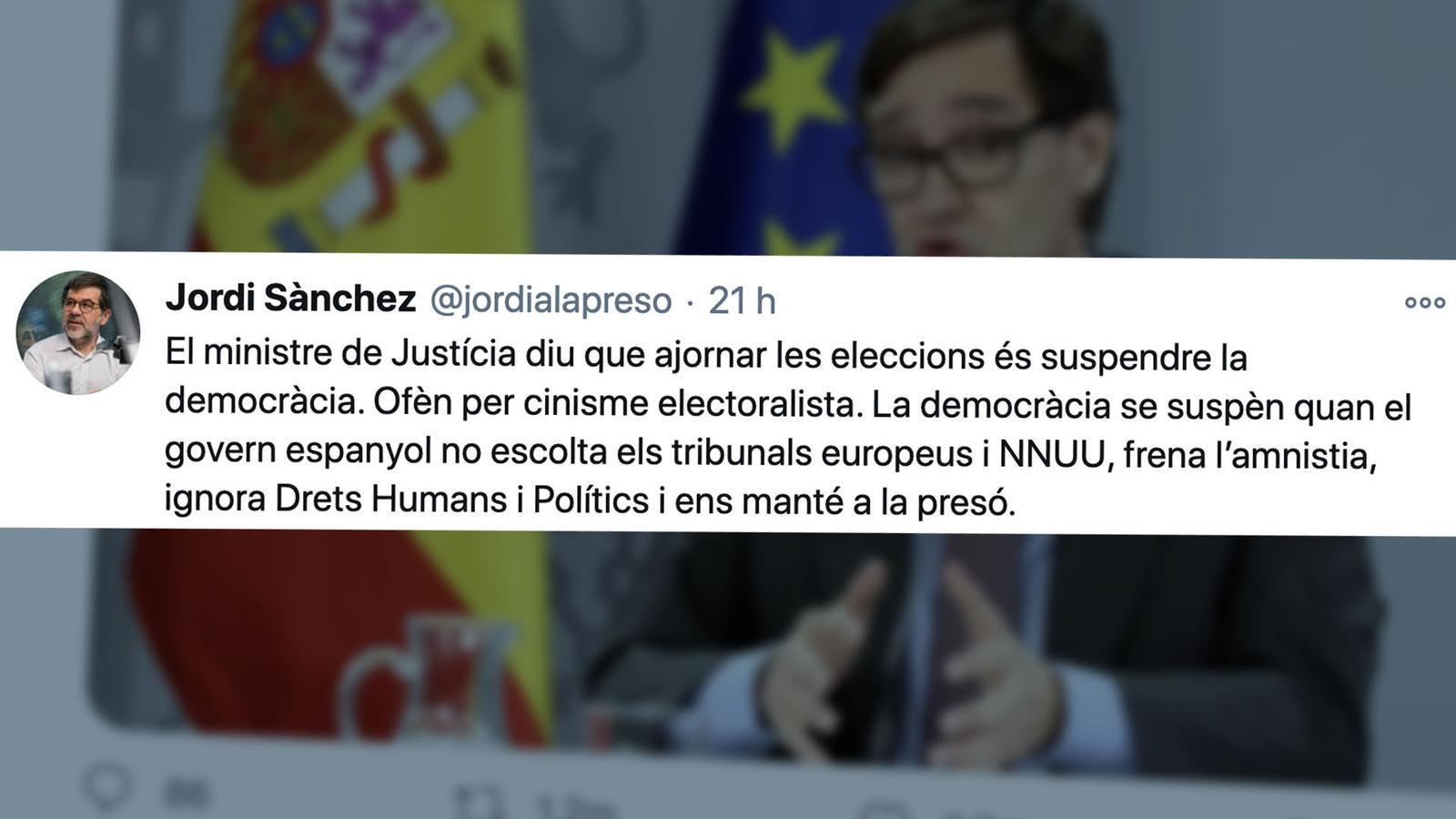 """L'anàlisi d'Antoni Bassas: «Que els hi preguntin als presos polítics què és """"suspendre la democràcia""""»"""