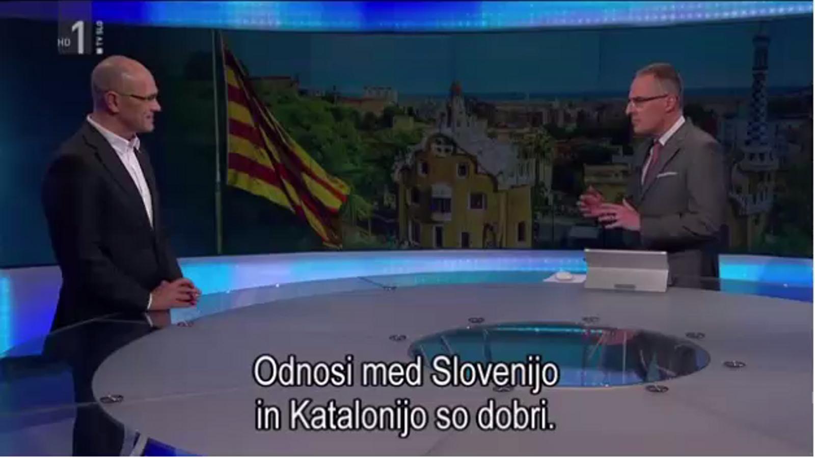 Entrevista a Raül Romeva en la televisió pública eslovena