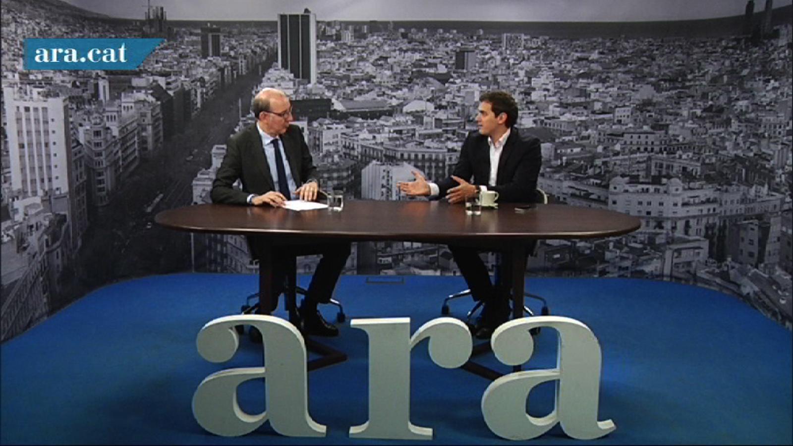 Albert Rivera: Em preocupa que s'utilitzi la manifestació en nom d'una plataforma que està fent suport a ERC i CiU en plena campanya electoral