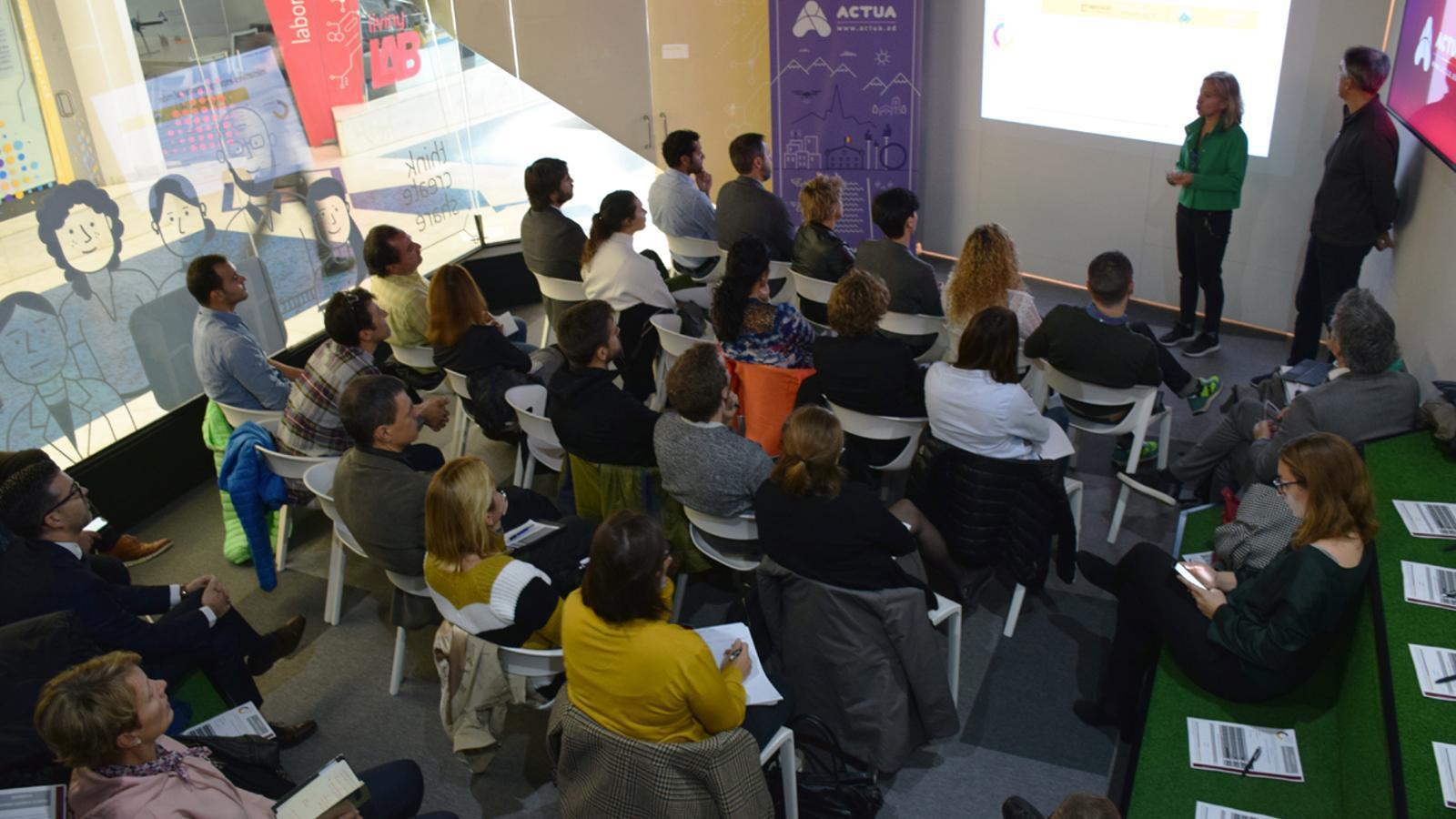 Presentació de l'Andorra Esports Clúster a l'Espai d'Innovació d'Actua. / T. N. (ANA)