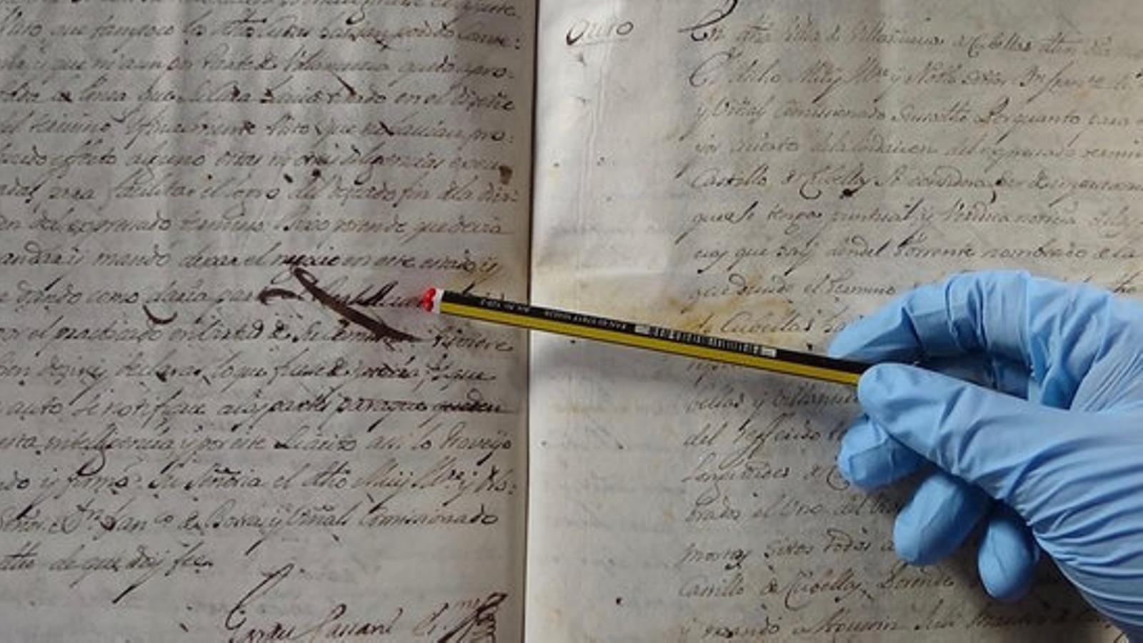 Peça d'Èlia Llach de l'Arxiu Comarcal del Garraf / Fons notarial Vilanova i la Geltrú